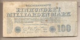 Germania - Banconota Circolata Da 100.000.000.000 Marchi P-126 - 1923 - [ 3] 1918-1933 : Repubblica  Di Weimar