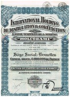 Ancienne Action - International Holding De Distillation & Cokéfaction à Basse Température & Minière - Titre De 1928 - Industrie