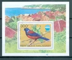 MADAGASKAR - Block Nr. 8 - Prachthäher Gestempelt - Sperlingsvögel & Singvögel