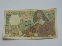 100 Francs - DESCARTES   5-5-1942   **** EN ACHAT IMMEDIAT **** - 1871-1952 Anciens Francs Circulés Au XXème
