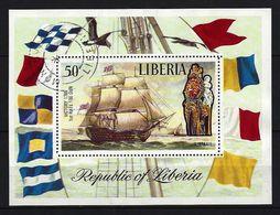 LIBERIA - Block Nr. 62 Segelschiffe Gestempelt - Schiffe