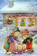 #7/56 Christmas New Year Angel Russian Modern Rare New Postcard - Nouvel An