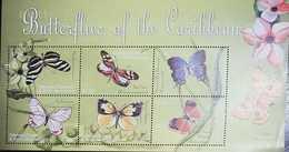 L) 2004 GRENADA, BUTERFLIES OF THE WORLD, NATURE, FLOWER, MNH - Grenada (1974-...)