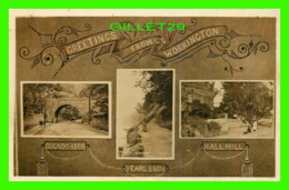 WORKINGTON, UK - GREETINGS FROM WORKINGTON - 3  TRAVEL IN 1909 -- - Angleterre