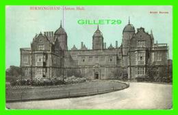 BIRMINGHAM, UK - ASTON HALL, SPARKLES - SCOTT SERIES - TRAVEL IN 1907 - SCOTT RUSSELL & CO - - Birmingham