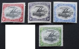 PAPUA 1907 Yver 17-18-19-20 (2 Scans) - Papouasie-Nouvelle-Guinée