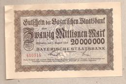 Baviera - Banconota Non Circolata FdS Da 20.000.000 Marchi - 1923 - [11] Emissioni Locali