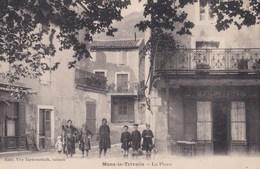 CPA : Mons La Trivalle  (34) Rare    La Place   Café De France   Enfants    Ed Tarbouriech - France