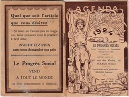 """Petit Agenda-Calendrier 1924 """"Le Progrès Social"""" - Calendarios"""