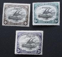 PAPUA 1907  Yver 19-21-22 (2 Scans) - Papouasie-Nouvelle-Guinée