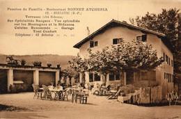 Biriatou  64    Restaurant  Pension De Famille- BONNET--ATCHERIA  Terrasse Du Coté De BIDASSOA - Biriatou