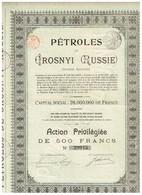 Ancienne Action - Pétroles De Grosnyi - Titre De 1921 - Russie