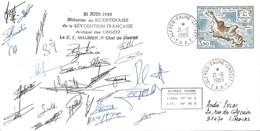 TAAF - Alfred Faure - Crozet : Lettre Avec Timbre Poste Aérienne N°103 Ilots Des Apôtres - 21/06/89 - Terres Australes Et Antarctiques Françaises (TAAF)