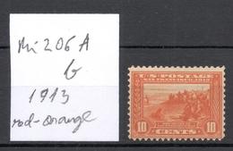 USA 1913 Michel 206 A B (rotorange/red-orange) * Sc 400 - Unused Stamps