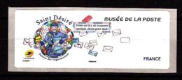 Atm-Lisa /  VIERGE,  Saint-Désiré, Musée De La Poste, 6.11.2018 - 2010-... Illustrated Franking Labels