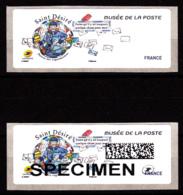Atm-Lisa /  VIERGE + SPECIMEN,  Saint-Désiré, Musée De La Poste, 6.11.2018 - 2010-... Illustrated Franking Labels