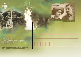 Poland Pologne 2018, 100th Anniversary Of The Polish Scouting Association. Postal Stationery - Théâtre