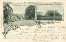 GRUBE, Prüss's Gasthaus & Kirche, Schützenplatz Musik-Pavillon (1901) AK - Allemagne