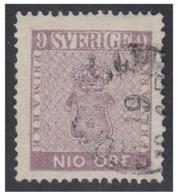 SUEDE -SVERIGE- FACIT N°8 --9 ÖRE VIOLET -- - Suède