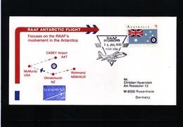 Australian Antarctic Territory 1991 RAAF Antarctic Flight Interesting Cover - Polar Flights