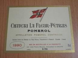 ETIQUETTE DE VIN POMEROL CHATEAU LA FLEUR-PETRUS 1990 - Bordeaux