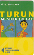 FINLAND - Turku Music Festival 1999, Turun Puhelin Telecard, Tirage 11000, Exp.date 12/00, Used - Finland
