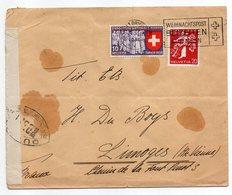 Suisse-1939-lettre Censurée à Destination De LIMOGES (France)--timbres,cachets,Censure WU 371).....à Saisir - Switzerland