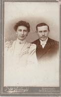 Photographie Ancienne Studio Jean-Marie Bellwald Echternach Couple Anonyme XIXème - Persone Anonimi