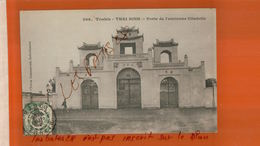 CPA TONKIN  -Thai Binh  Porte De L'ancienne Citadelle  Timbre Indo-chine Cachet à Date  Hanoi  NOV  2017 335 - Vietnam
