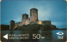 Finland - GPT, 5FINA, The Castle Olavinlinna, Castles, 50mk, 100.000ex, 9/91, VF Used - Finland