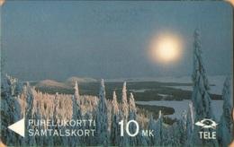 Finland - GPT, 3FINA, Winterview From Koli, Winter, Landscape, 10mk, 50,000ex, 3/91, Used - Finland