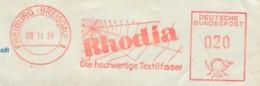 EMA 1951 - Rhodia - Fibre Textile - Soie Artificielle, Viscose - Toile D'araignée - Textile