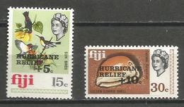 Fiji - 1972 Hurricane Relief MLH *     SG 476-7 - Fiji (1970-...)