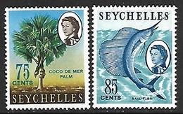 Seychelles Islands  1966-8  Sc#206A-B   75c & 85c Better MNH   2016 Scott Value $4 - Seychelles (...-1976)