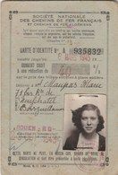 CARTE D IDENTITE  SNCF 1945 ROUEN - Abonnements Hebdomadaires & Mensuels