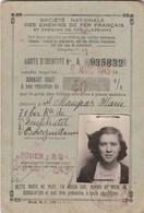 CARTE D IDENTITE  SNCF 1945 ROUEN - Europa