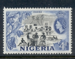 Nigeria 1953 QEII Pictorials Cocoa Industry 4d MUH - Nigeria (1961-...)