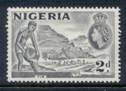 Nigeria 1953 QEII Pictorials Mining Tin 2d Grey FU - Nigeria (1961-...)
