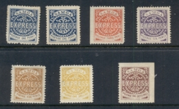 Samoa 1877-82 Samoa Express Reprints MLH/MUH - Samoa