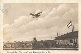 F - Ein Deutscher Fliegergruss Vom Flugplatz Köln Am Rhein - Postkarte J. Krapohi - 1914-1918: 1ère Guerre