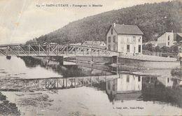F - Raon-l'Etape (Vosges) - Passage Sur La Meurthe, Café De La Passerelle - Edition L. Cuny - Carte N° 254 - Raon L'Etape