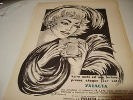ANCIENNE PUBLICITE CURE DE YAOURT AVEC YALACTA 1954 - Posters