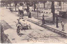 BERG - LIBOURNE  EN GIRONDE COURSE PARIS MADRID  PASSAGE DE GABRIEL ALLEES DE LA REPUBLIQUE   CPA  CIRCULEE - Libourne