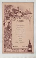 Menu Montrevel Hôtel Jacquy Chanteclerc 1912 Coq Faisan - Menus