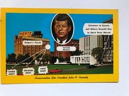 Carte Postale Ancienne DALLAS  PRESIDENT KENNEDY'S  ASSASSINATION - Dallas