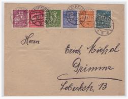 Dt- Reich (004832) Brief MIF Gelaufen Von Leizig Nach Grimma Am 6.10.1922 - Deutschland