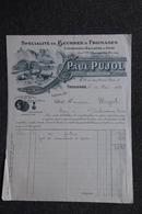 Facture Ancienne - TOULOUSE , Paul PUJOL, Spécialité De Beurres Et Fromages. - France