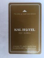Kal Hotel Jeju Korea - Hotel Keycards