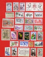 Lot De 29 Timbres 1 Bande De 2 Timbres Avec Vignette ANDORRE PRINCIPAT D ' ANDORRA Neufs Xx - Stamps