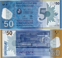 URUGUAY      50 Pesos Urug.    Comm.       P-New       2017       UNC - Uruguay